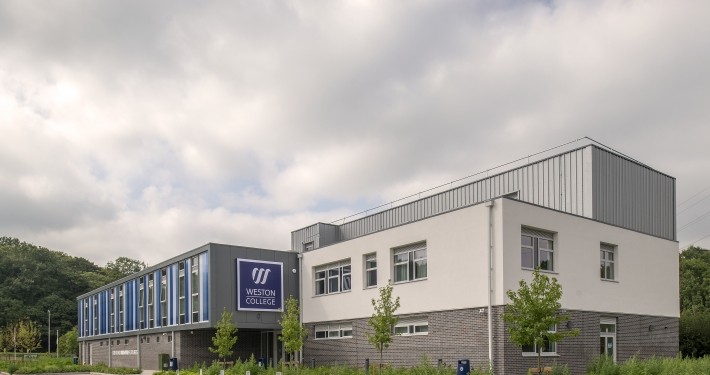 Exterior view of the Weston College Health and Active Living Centre